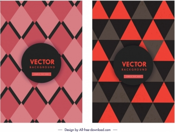 geometric background templates dark red geometric decor