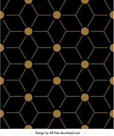 geometric pattern flat dark symmetrical illusion decor