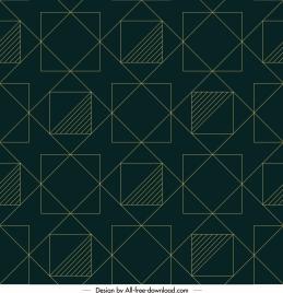 geometric pattern flat squares lines layout symmetric design