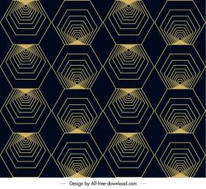 geometric pattern symmetric illusion polygons sketch
