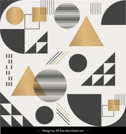 geometric pattern template colorful flat decor