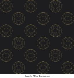 geometric pattern template dark flat symmetric circles sketch
