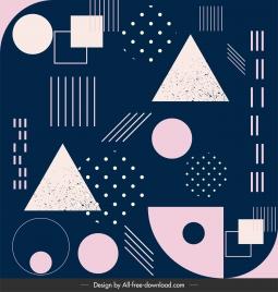 geometric pattern template flat dark design