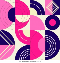 geometrical pattern template colorful flat illusion