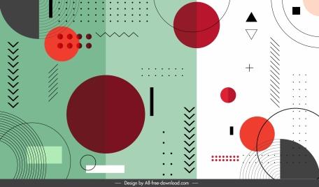 geometry background colorful flat shapes outline