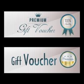 gift voucher template shiny stamp decor modern design
