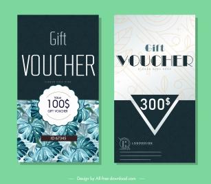 gift voucher templates elegant contrast vertical nature design