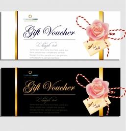 gift voucher templates elegant design rose icon decor