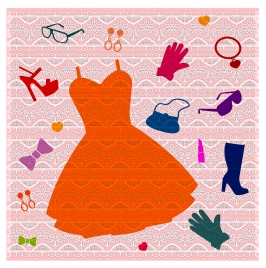 girl cloth and accessory background