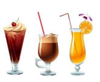 glass of ice cream orange and coffee
