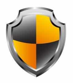 Glossy shield. Vector