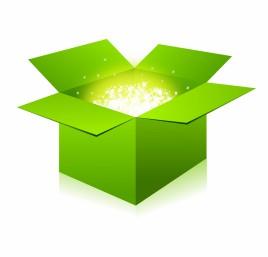 Glowing Green Box