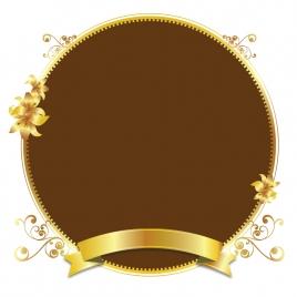 gold design vector golden frame background illustration art pattern floral color