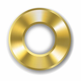 Gold donut button template