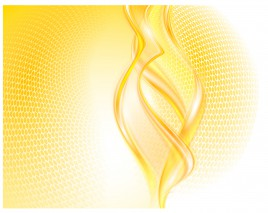 golden curve and hexagon abstract background