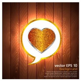 golden heart background