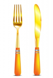golden knife and fork