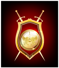golden shield and sword