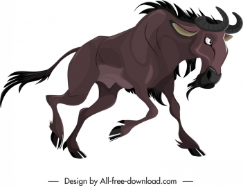 graminivore icon antelope species sketch cartoon design