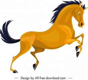 graminivore species icon horse sketch colored cartoon character