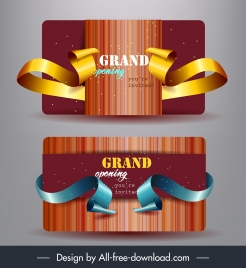 grand opening invitation card elegant luxury 3d decor