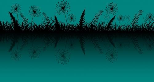 grass background dark blue design reflection style