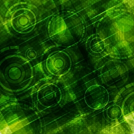 green abstract background various circles decoration