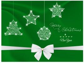 green christmas design decor element