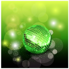 green disco ball background