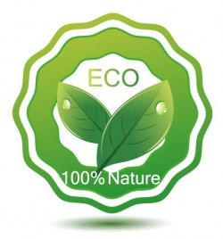 Green eco friendly badge