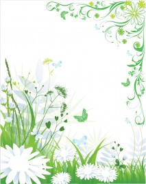 Green spring and summer background