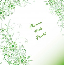 Greeny Flower Background