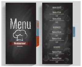 grey background restaurant menu