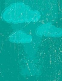 grunge vintage background cloud decoration style