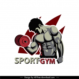 gym sport icon muscle man dumbbel sketch