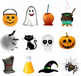 Halloween design element icon set