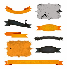 Halloween frames and banners
