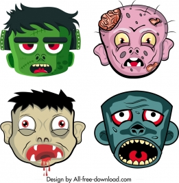 halloween masks templates scary cartoon characters