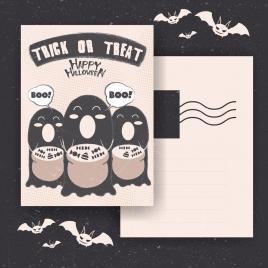 halloween postcard template dark tribal decoration