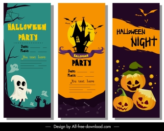 halloween poster templates classic colorful horror decor