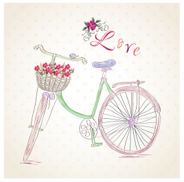 hand draw bicycle love background