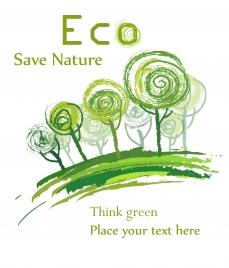 hand draw eco background