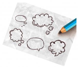 hand write bubble