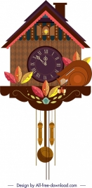 hanging clock template nature elements decor classical cottage