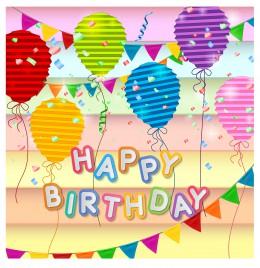 happy birthday card design template