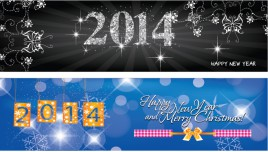 Happy new year 2014 Banner