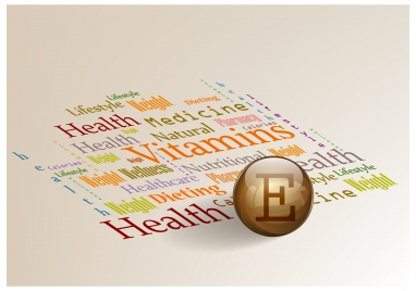 healthy advertisement banner illustration with vitamins