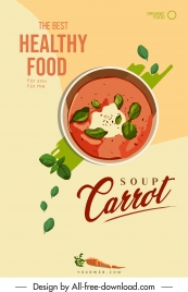 healthy beverage poster colorful classical flat design