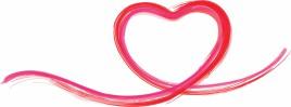 Heart shaped line