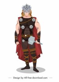 hero icon retro costume sketch cartoon character